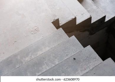 home stair concrete  construction concept