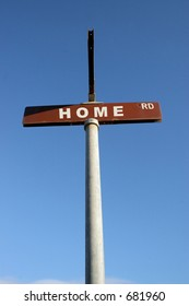 HOME street sign
