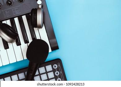 Home Studio Computer Music Station portable set up.