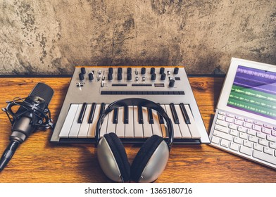 home studio, music production, songwriting, digital audio recording equipment
