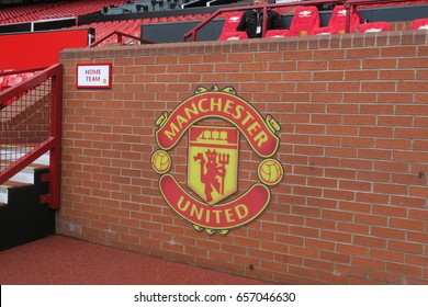 Home substitute bench in Old Trafford Stadium, Manchester United Football Club, Manchester, England on 29 April, 2016.