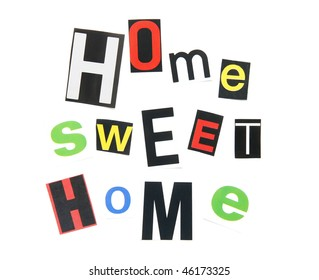 home sweet home - ransom note style