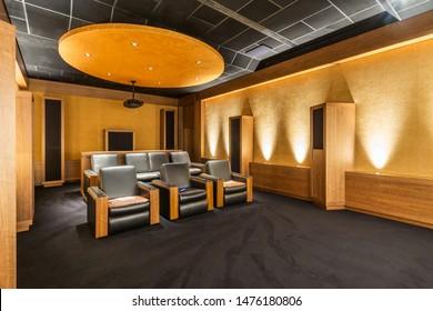 Home Theater Room. Luxury Home Cinema Room.