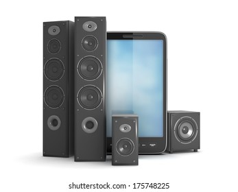 Home theater system and mobile phone