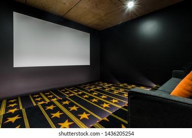 Home theatre movie screen room