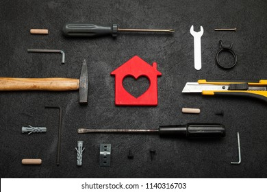 Home tool estate, real power construction, repair concept.