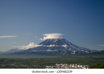 Home volcanoes of Petropavlovsk-Kamchatsky