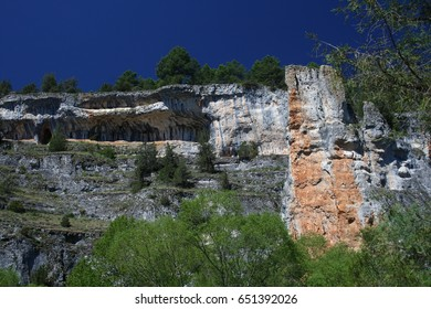 Home of vultures, Canyon of the Wolves River, Soria, Spain,