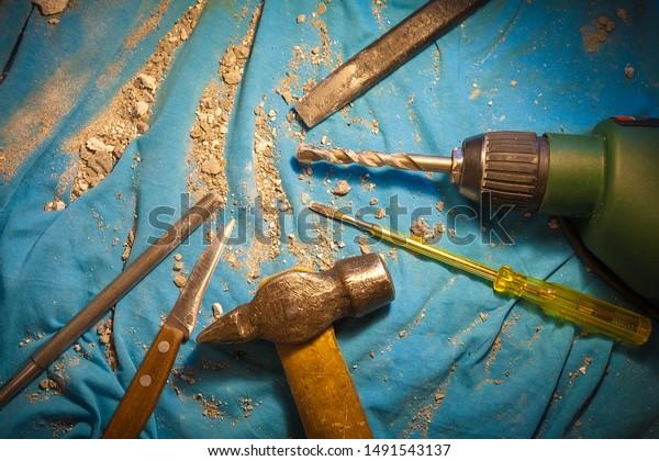 Home Wizard Hand Tool Kit Job Stock Photo (Edit Now) 1491543137