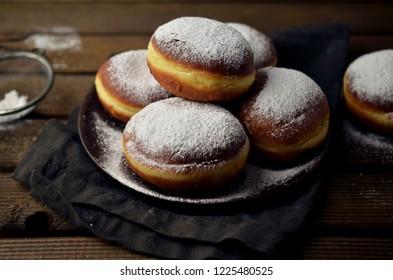 Home-baked Polish donuts