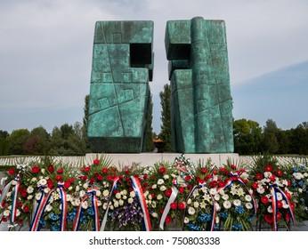 Homeland war memorial cemetery in Vukovar, Croatia