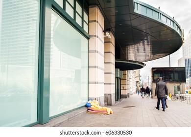 Homeless brussels Belgium