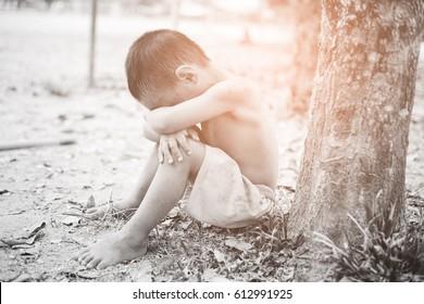 homeless child.