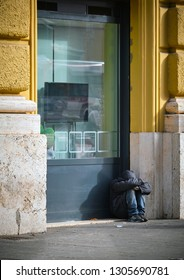 Homeless man: isolation on the street