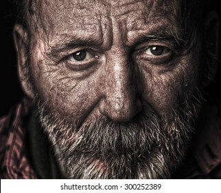 Homeless old man