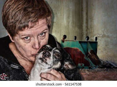 Homeless Woman and her Dog