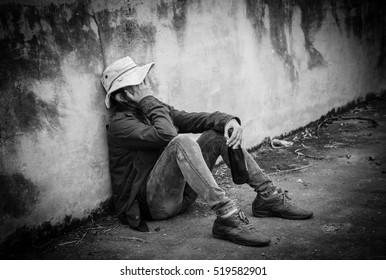 Homeless,Sad woman,Despair,Problem