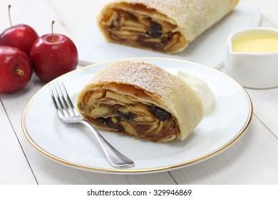 homemade apfelstrudel, apple strudel,austrian germany food