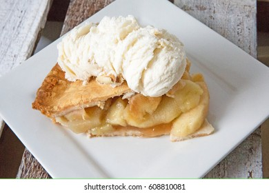 homemade apple pie and ice cream