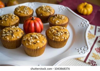 Homemade Autumn Pumpkin Muffins