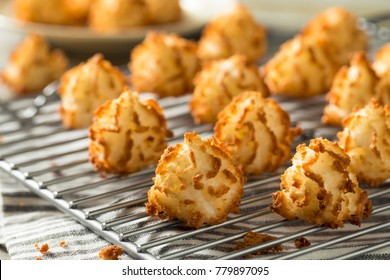 Homemade Baked Coconut Macaroons Ready to Eat