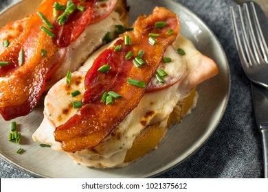 Homemade Baked Kentucky Hot Brown with Bacon Chicken and Cream Sauce