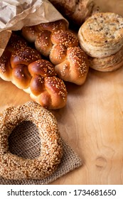 homemade bakery products and bagel