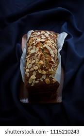 Homemade banana bread, pound of banana cake.
