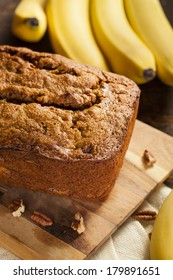 Homemade Banana Nut Bread Cut into Slices