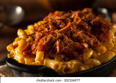 Homemade BBQ Pulled Pork Mac and Cheese Ready to Eat