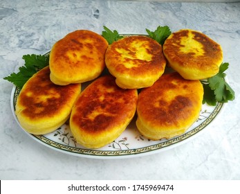 homemade beep-fried biscuits with minced meat