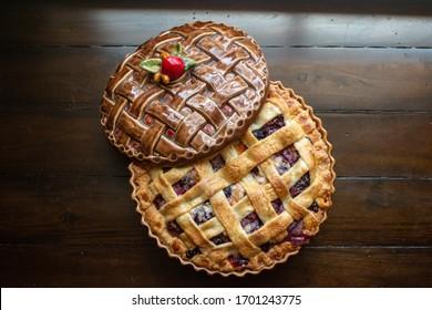 Homemade Berry Pie with Lattice top