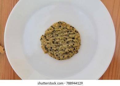 Homemade  black sesame cookies
