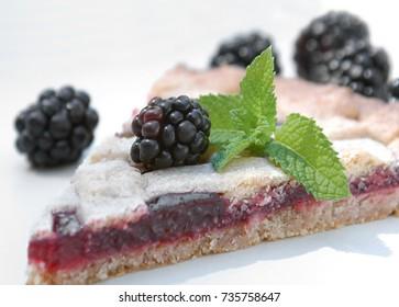 Homemade blueberry galete