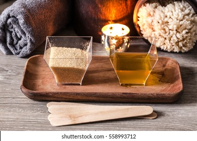 homemade body scrub with olive oil and brown sugar