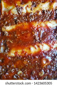 Homemade bolognese cannelloni, typical dish from Italy.