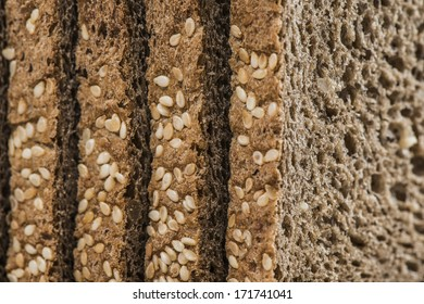 Homemade brown bread with cereals