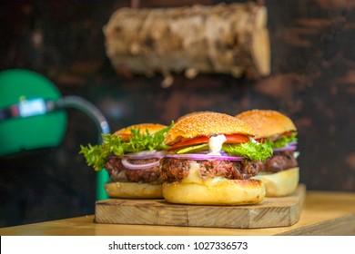 Homemade burgers in Riga
