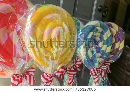 homemade candy lollipop christmas decorations - Lollipop Christmas Decorations