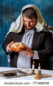 Homemade challah on Shabbat