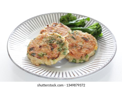 Homemade chicken and coriander leave patty