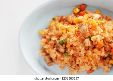 Homemade chicken and ketchup rice