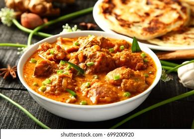 Homemade chicken korma curry dish