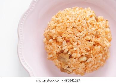 Homemade chicken rice