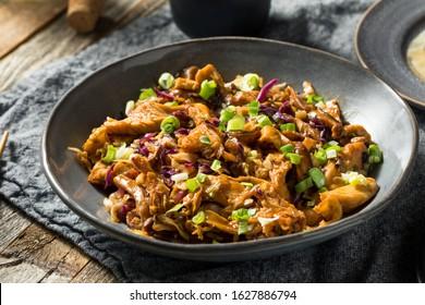 Homemade Chinese Mu Shu Pork with Scallions and Cabbage