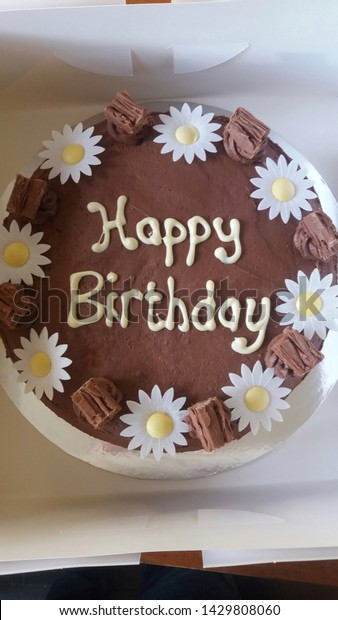 Stupendous Homemade Chocolate Birthday Cake Happy Birthday Stock Photo Edit Funny Birthday Cards Online Kookostrdamsfinfo