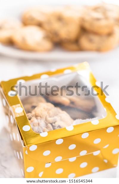 Homemade Chocolate Chip Cookies Gift Box Stock Photo Edit Now 1516545344