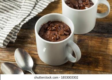 Homemade Chocolate Microwave Mug Brownie Ready to Eat