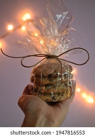 Homemade chocolatechip cookies for Santa