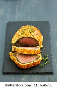 Homemade Christmas Beef Wellington with a Pastry Crust